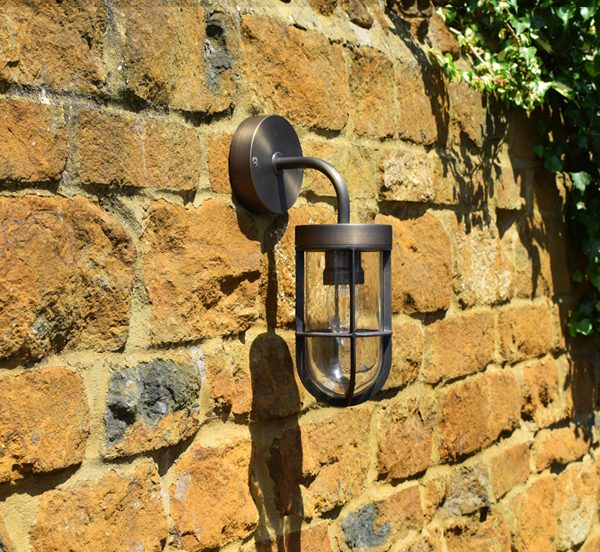 Fisherman Solid Brass Wall Light with Rustic Bronze Finish