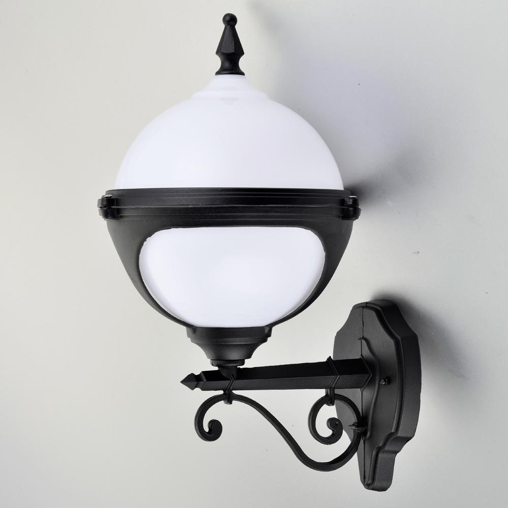 Mystic White Globe Wall Light Outdoor Wall Light Lumena Lights