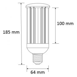 Large LED Corn Bulb Dimensions