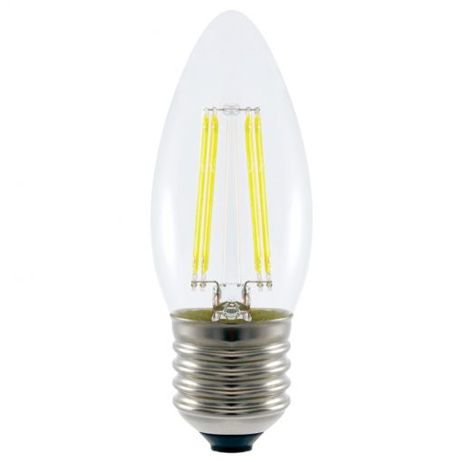 4.8w LED Filament Candle Bulb Daylight