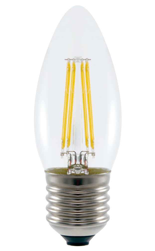 Daylight Led Bulbs: LED Filament Candle Light Bulb, 4.8W
