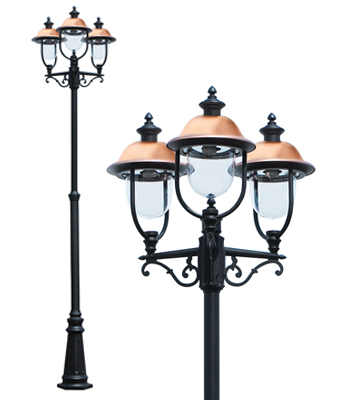 Adriana Triple Lamp Post - Traditional Lamp Post light | 3 Head ...