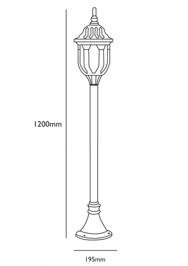 Single Lamp Post Dimensions
