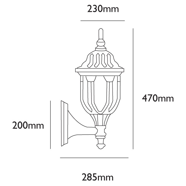 Amphora Outside Wall Light Dimensions