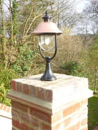 Surface Mounted Copper Lantern