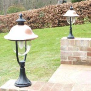 Adriana Traditional Copper Pedestal Energy Saving Light