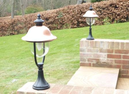 Adriana Traditional Copper Pedestal Energy Saving Light