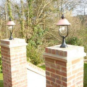 Adriana Pedestal Lights Mounted on Wall