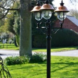 Adriana Traditional Triple Lamp Post