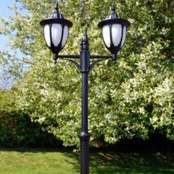 Amphora Double Lamp Post Light