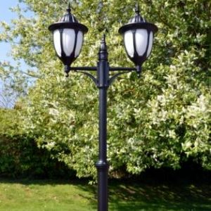 Amphora Double Lamp Post Light