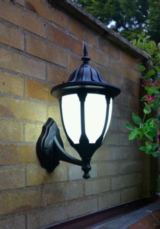 Amphora Traditional Outdoor Wall Lantern With Frosted