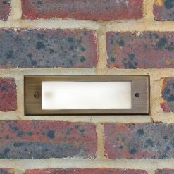 frosted brick light in situ