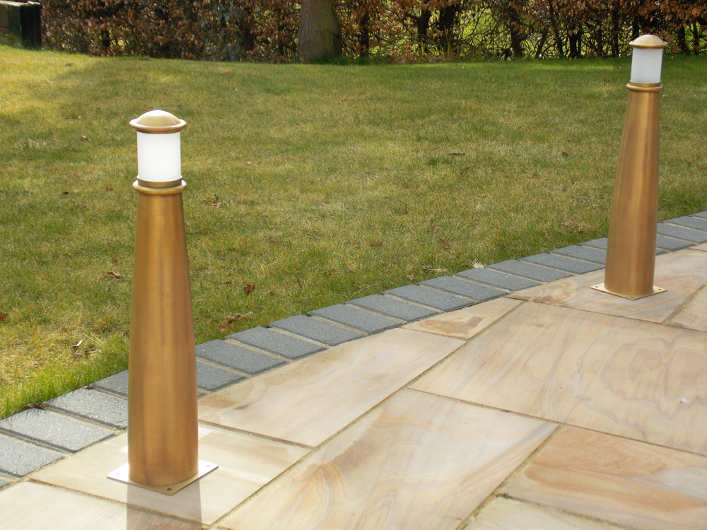 Beacon Brass Bollards in Use