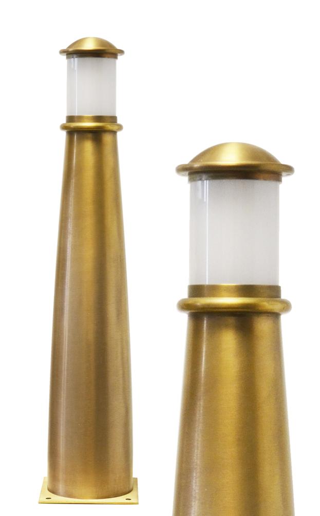 Beacon Solid Brass Bollard Path Light 560mm Lumena