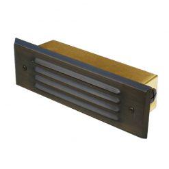 Charleston Bricklight - Slatted / Louvered brass brick Light - (240v)