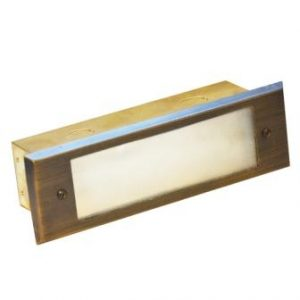 Charleston Outdoor Bricklight - Frosted Glass Front - (12v)