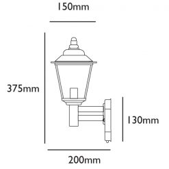 Classica Wall Light with PC Sensor Line Drawing