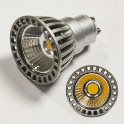 5W LED GU10 (COB) Cool White - 50 Deg. Beam Angle