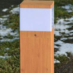 Wood Effect Bollard as Path Lighting