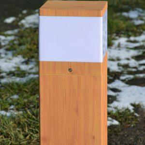 Wood Effect Bollard as Path Lighting