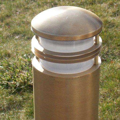 Charleston Bollard Light - Solid Brass