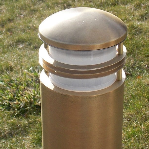 Charleston Bollard Light - Solid Brass