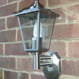 Stainless Steel Dusk til Dawn Wall Lantern