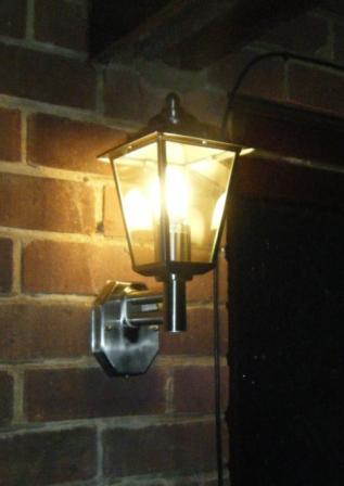 Classica Wall Light with Sensor in situ
