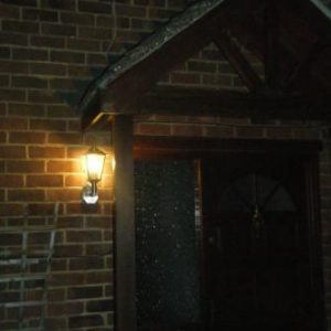 Classica Motion Sensor Wall Light in Situ