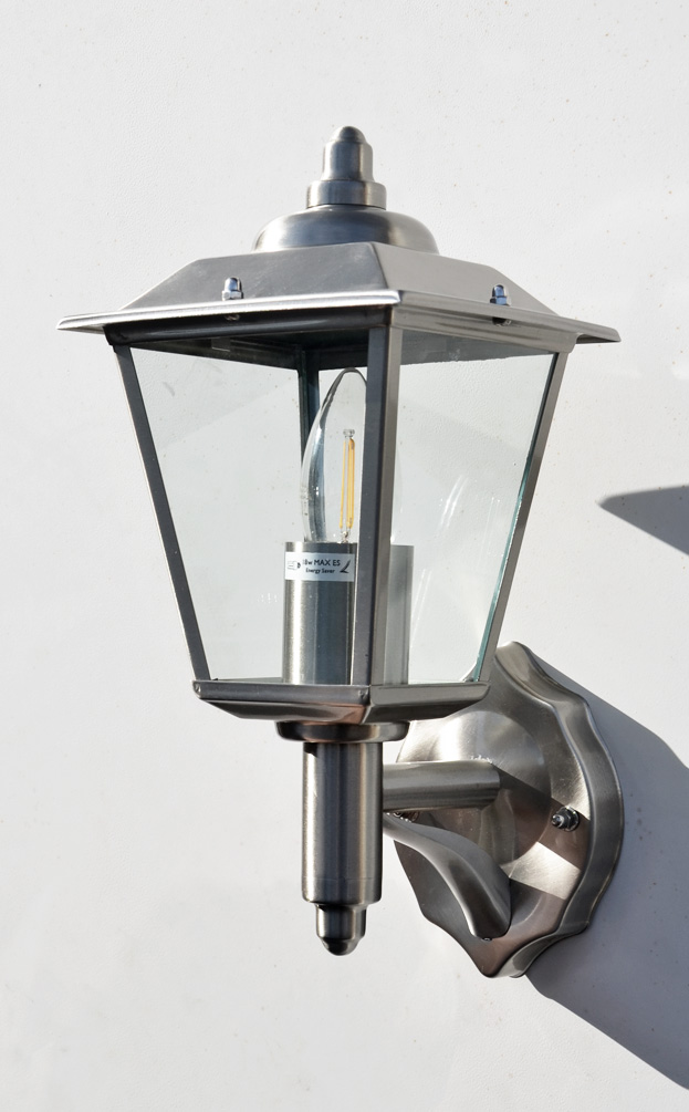 Stellus Classica 320 Wl Stainless Steel Outdoor Wall Lantern