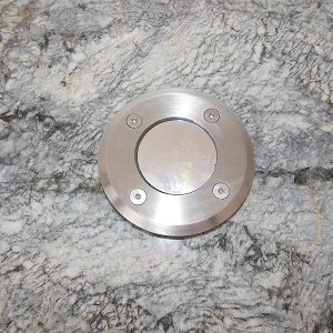 Round Inset light in marble step 100mm