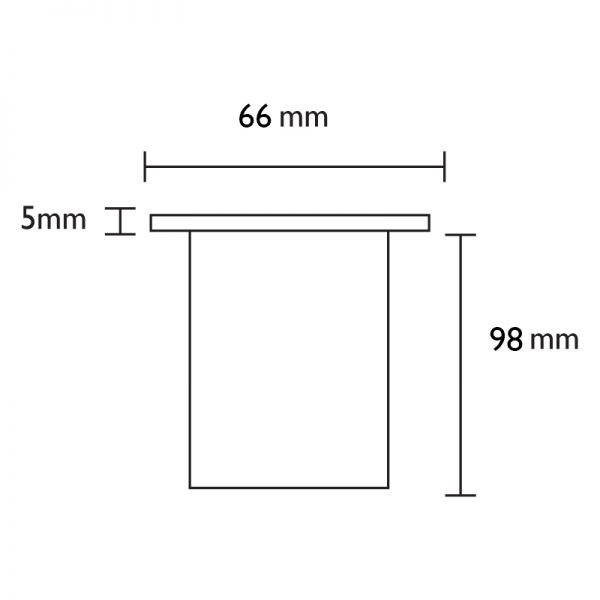 Dimensions of Decimina Deck Light