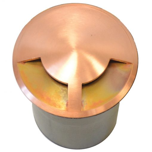DuoMarka - 240v 2 Way Recessed Ground / Step Light - Natural Copper