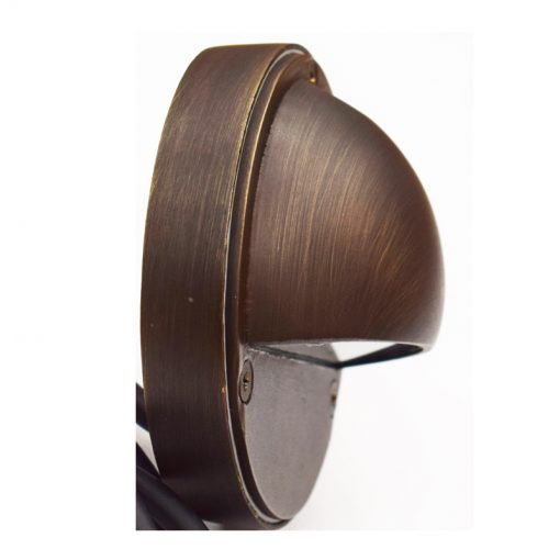 Eyelite Brass Steplight - Side View