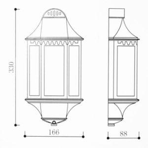 Fairlite Half Lantern Dimensions