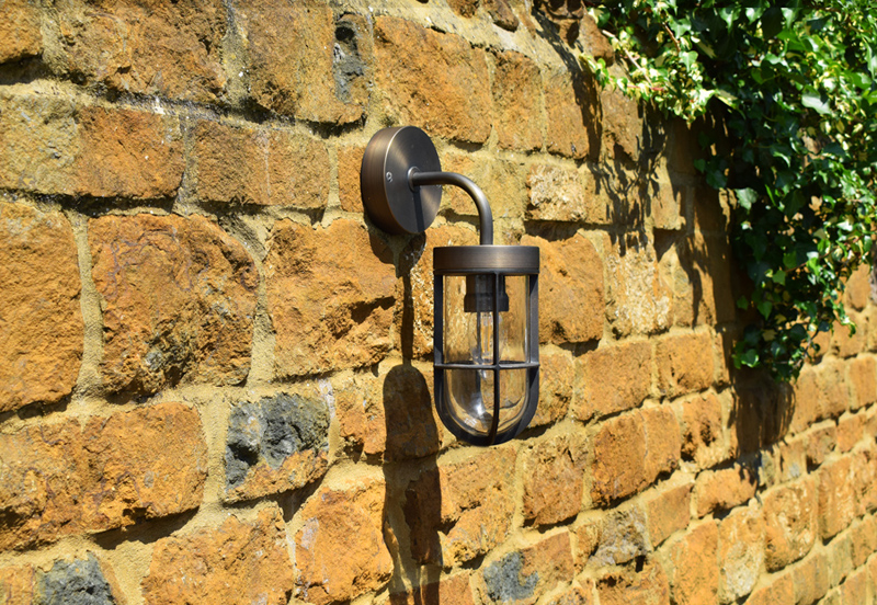 Fisherman Solid Brass Outdoor Wall Light Rustic Bronze