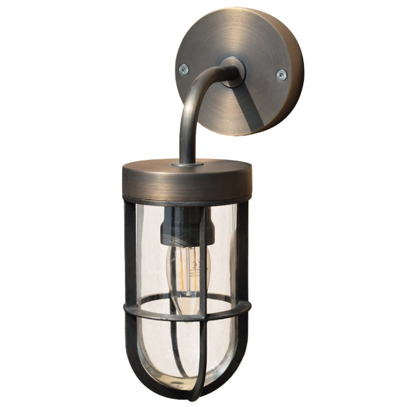 Solid Br Outdoor Wall Light