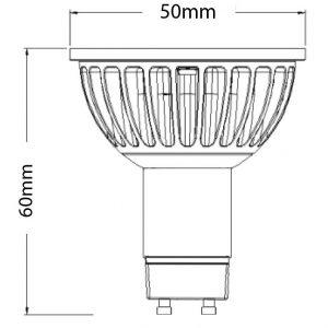 COB LED GU10 Dimensions