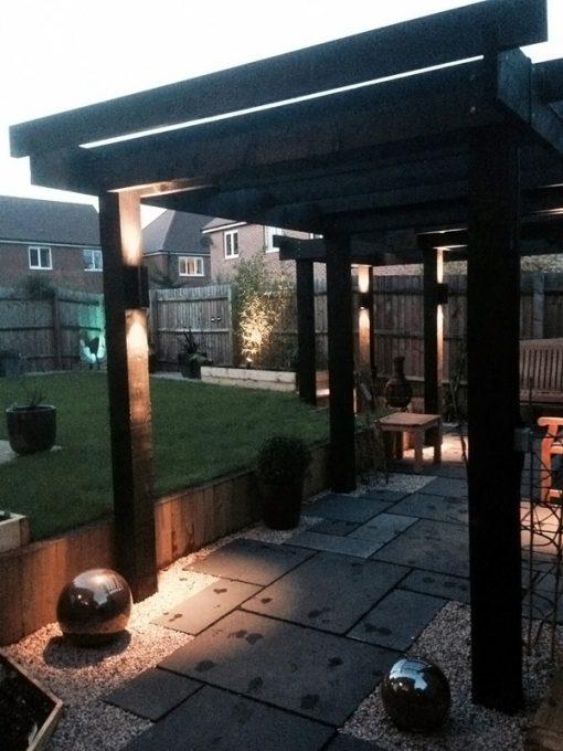 Hilospot Up Down Spotlights in Garden Setting