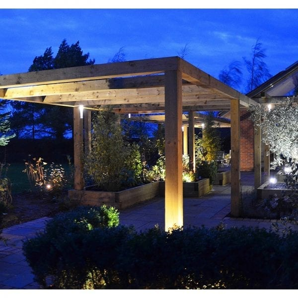 Hanging Lights & Spike Lights - Pergola