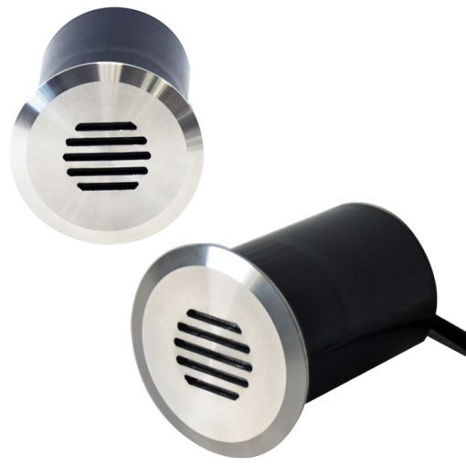 Recessed Wall Lights Linalite - External Recessed Wall Lights -240v Louvered In-Wall / In-Ground / Step Light - 316 Stainless Steel