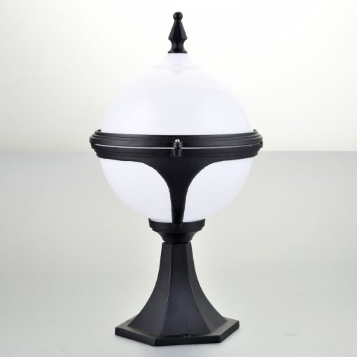 Mystic White Globe Pedestal Lights