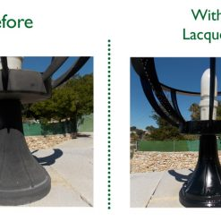 Before and After Lacquer Photo - Pedestal Lights