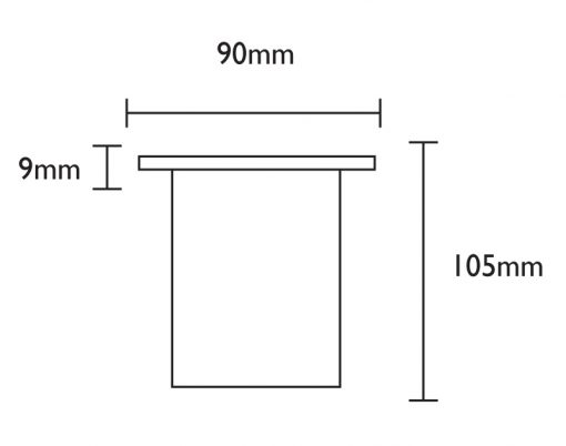 Linalite Line Drawing - Dimensions