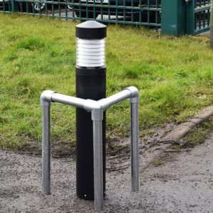 Barrier for Protecting Bollard Root Mounted