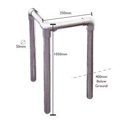 Galvanised Steel Bollard Protector Dimensions