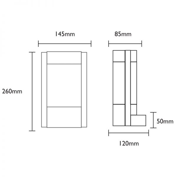 Ovus Wall Light Dimensions