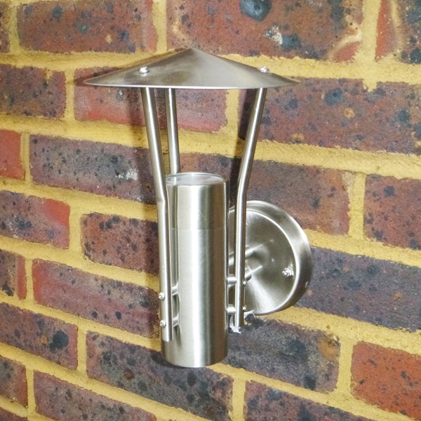 Stellus Parasola Stainless Steel Outdoor Wall Light