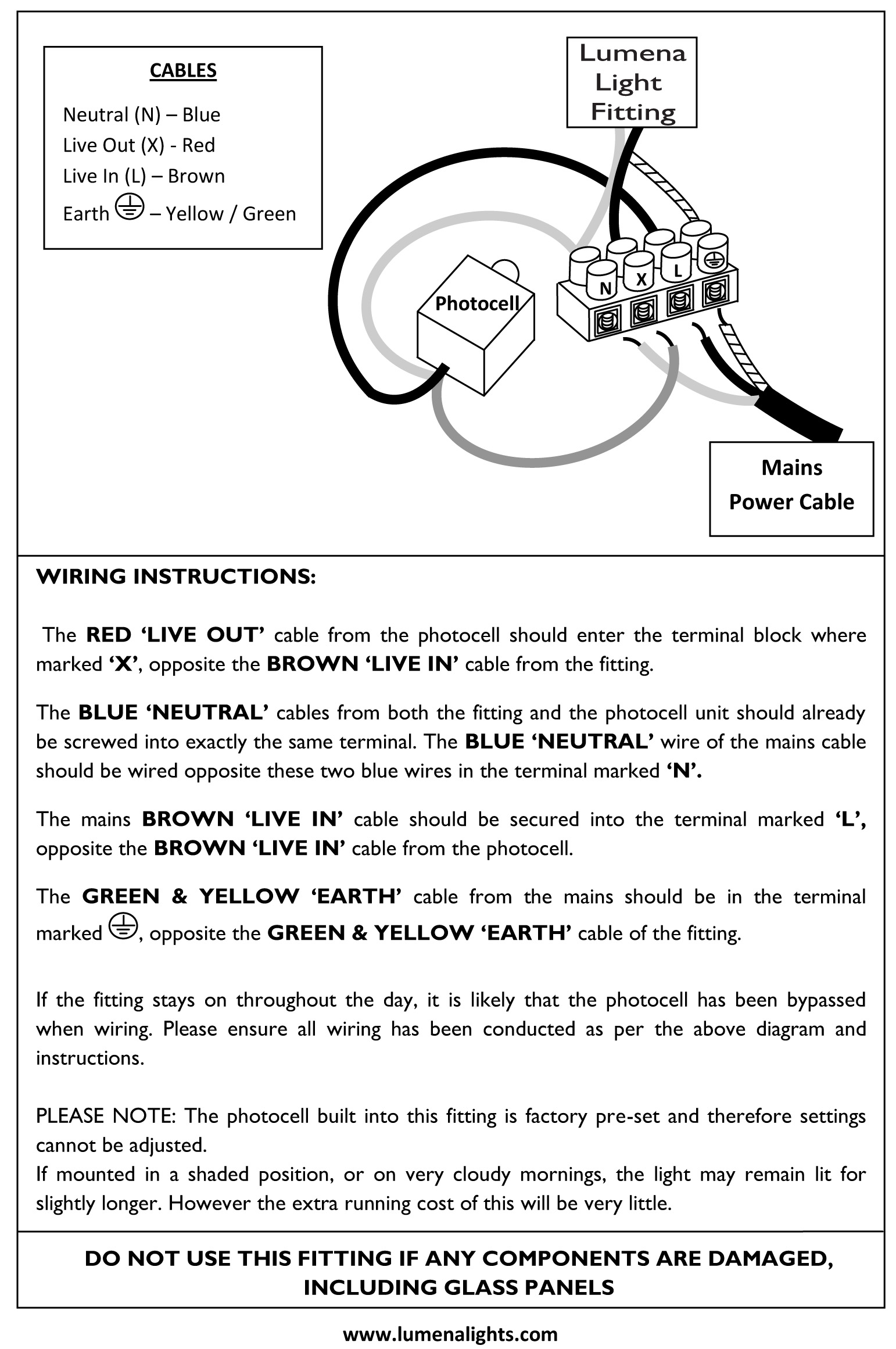 photocell 240v wiring instructions33 lumena lights